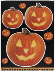 Halloween klistermærke med græskar til vinduer