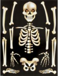 Klistermærker med skelet til vinduet Halloween