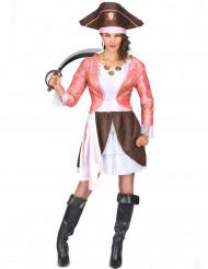 Kostume pirat lyserød til kvinder