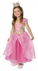Prinsesse pink - Lyserød prinsessekjole til piger