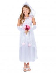 Brudekjolekostume pige