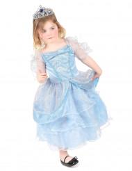 Lyseblå prinsesse udklædning til børn