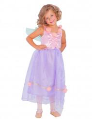 Kostume fe med vinger lilla og lyserød til piger.