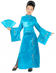 Geisha inspireret kostume pige