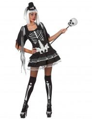 Sød skeletdragt Halloween voksen