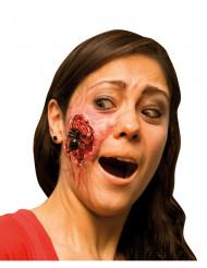 Falsk sår med edderkop voksen Halloween