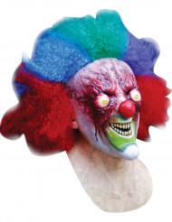 Klovnemaske med brændt ansigt voksen Halloween