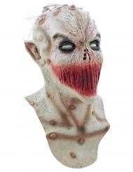 Monstermaske med sammensyet mund