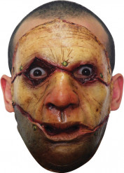Zombiemaske med opskåret ansigt voksen Halloween