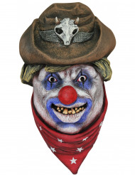 Cowboyklovn maske voksen Halloween