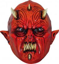 Djævel med flere horn maske voksen Halloween