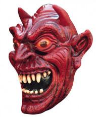 Rød djævel maske voksen Halloween