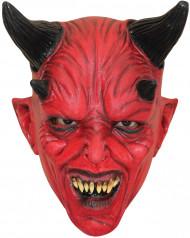 Djævel med fire horn Rød Maske Voksen Halloween
