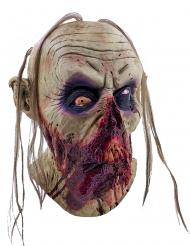 Blodig Zombiemaske med hængende tunge Voksen Halloween