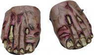 Skobetræk Zombiefødder Voksen Halloween