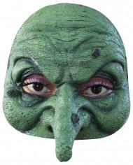 Heks Grøn Halvmaske Halloween