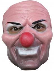 Ond Halloween klovnemaske rød næse voksen