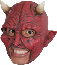 Djævlemaske med horn Voksen Halloween