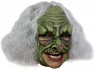 Heks Grøn Maske Voksen Halloween