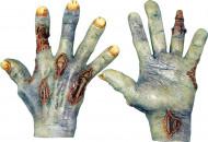 Zombiehænder med sår Voksen Halloween