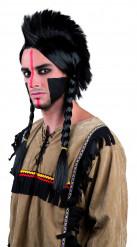 Indianerparyk med hanekam og fletninger Voksen