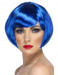Kabaret Paryk Kort blåt hår