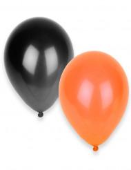 Balloner 50 orange og sort Halloween