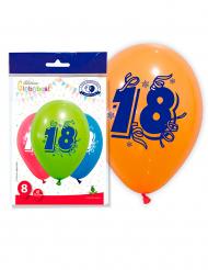 8 Talballoner 18 flerfavet 30 cm