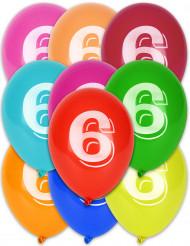 Balloner med 6 tal