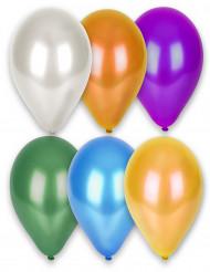 12 Metalliske balloner i flere farver 28 cm
