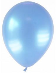 12 balloner metalliske lyseblå 28 cm
