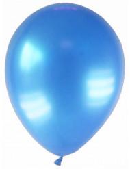 12 metallisk blå balloner