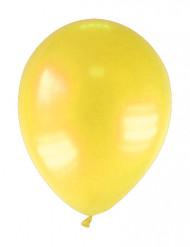 Balloner 12 stk. metallisk gul 28 cm