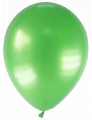 12 metallisk grønne balloner