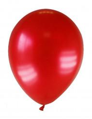 12 mørkerøde metallicfarvede balloner 28 cm