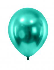 12 metallic mørkegrønne balloner 28 cm