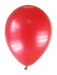 12 røde metallicfarvede balloner 28 cm