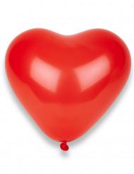 8 røde hjerteformede balloner