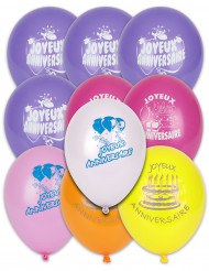 10 Balloner Joyeux Anniversaire