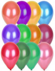 100 balloner 29 cm metallisk multifarvede