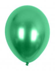 100 grønne metallicfarvede balloner 29 cm