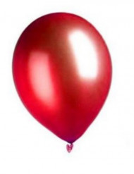100 balloner metallisk røde 27 cm