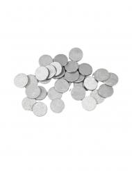 Runde sølvfarvede bordkonfetti