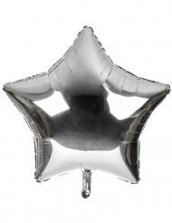 Ballon aluminium kæmpe stjerne i sølv 80 cm