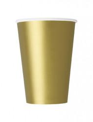 10 guldfarvede papkrus