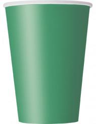 10 papkrus i karton smaragdgrønne