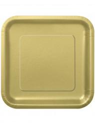 Tallerkener 14 stk store i guld