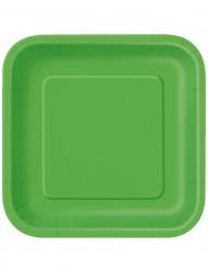 Grønne paptallerkener 23 cm