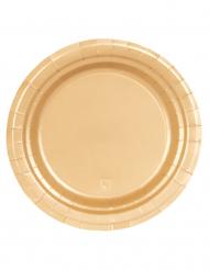 16 paptallerkener guld 23 cm