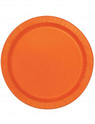 16 store orange 22 cm paptallerkener